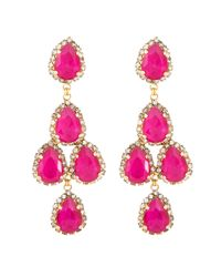 Erickson Beamon | Duchess Of Fabulous Earrings, Pink | Lyst