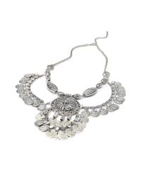 Forever 21 | Metallic Etched Statement Necklace | Lyst