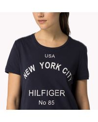 Tommy Hilfiger | Blue Organic Cotton Ny T-shirt | Lyst