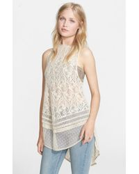 Free People | Natural 'maisie' Lace Tunic | Lyst
