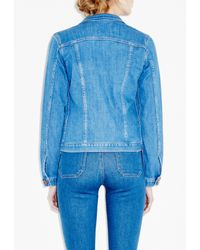 M.i.h Jeans - Blue Straight Denim Jacket - Lyst