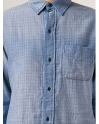 Current/Elliott - Blue 'The Prep School' Shirt - Lyst