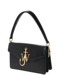 J.W.Anderson - Black Jw Logo Leather Top Handle Bag - Lyst