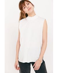 Silence + Noise - White Don't Mock Me Muscle Tee - Lyst