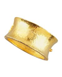 Jose & Maria Barrera - Metallic Gold Cuff Bracelet - Lyst