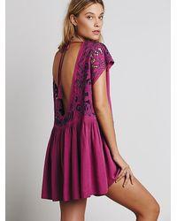 Free People - Purple Womens Ayu Dress - Lyst