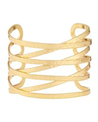 Lydell NYC | Metallic Hammered Cuff Bracelet | Lyst