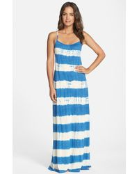 Lucky Brand - Blue 'Sedona' Tie Dye Maxi Cover-Up Dress - Lyst
