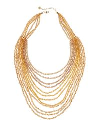 Nakamol | Metallic Layered Bead Necklace | Lyst