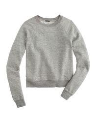 J.Crew - Gray Lightweight Cropped Sweatshirt - Lyst