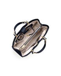 Michael Kors Blue Cynthia Large Saffiano Leather Satchel