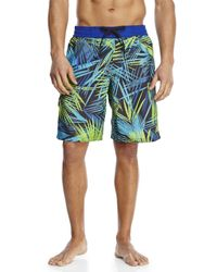 Adidas - Blue Tropic Thunder Volley Board Shorts for Men - Lyst