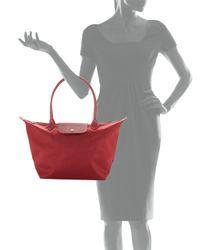 Longchamp - Red Le Pliage Neo Large Shoulder Tote Bag - Lyst