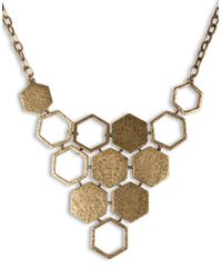 Lucky Brand - Metallic Goldtone Honeycomb Necklace - Lyst