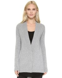 Tess Giberson - Gray Cashmere Knit Jacket - Grey Melange - Lyst