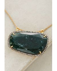Avindy - Blue Sliced Stone Pendant - Lyst