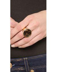 Michael Kors | Metallic Domed Tortoise Ring Goldtortoise | Lyst