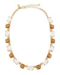 kate spade new york - Yellow Formal Facets Collar Necklace - Lyst