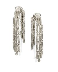 Oscar de la Renta | Metallic Pave Crystal Shower Drop Earrings | Lyst