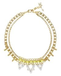 John & Pearl | White Kinetic Gold Plated Swarovski Necklace | Lyst