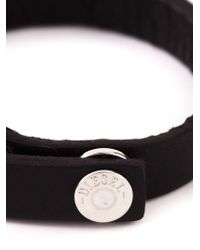 DIESEL | Black 'arne' Bracelet for Men | Lyst