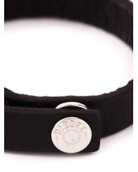 DIESEL - Black 'arne' Bracelet for Men - Lyst