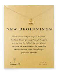 Dogeared | Metallic Rising Lotus Charm Necklace | Lyst