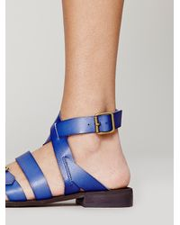56a2f8a765ce Lyst - Free People Colette Vegan Sandal in Blue