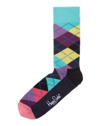 Happy Socks | Multicolor Argyle Socks for Men | Lyst