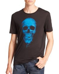 The Kooples | Black Skull Graphic Tee for Men | Lyst