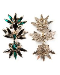 Anton Heunis | Green Swarovski Crystal Drop Earrings | Lyst