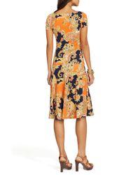 Ralph Lauren - Multicolor Lauren Petites Paisley Drop Waist Dress - Lyst