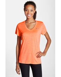 Under Armour - Orange 'twisted Tech' Tee - Lyst