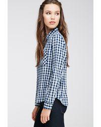 Forever 21 - Blue Gingham-patterned Shirt - Lyst