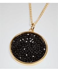 Reiss - Metallic Nikita Pendant With Crystals From Swarovski - Lyst