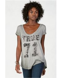 True Religion | Gray True 71 Womens Tee | Lyst