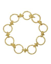 Armenta | Metallic 18k Yellow Gold Circle Link & Diamond Bracelet | Lyst