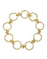 Armenta - Metallic 18k Yellow Gold Circle Link & Diamond Bracelet - Lyst