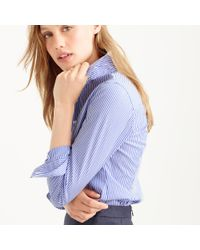 J.Crew | Blue Tall Favorite Shirt In Stripe | Lyst