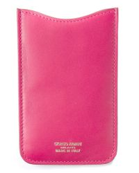 Giorgio Armani | Pink Classic Phone Case | Lyst