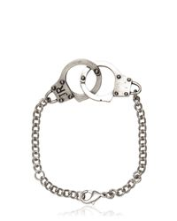 John Richmond | Metallic Handcuffs Bracelet for Men | Lyst