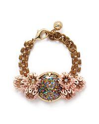 Lulu Frost | Multicolor 'vivien' Glitter Dome Flower Chain Bracelet | Lyst