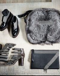 Brunello Cucinelli - Black Monili Fringe Leather Wristlet Clutch Bag - Lyst