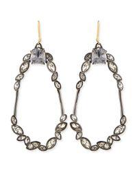 Alexis Bittar - Metallic Miss Havisham Marquise Cluster Earrings - Lyst