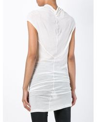 DRKSHDW by Rick Owens - White Draped Top - Lyst