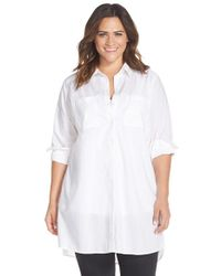 Caslon | White Two-pocket Tunic Shirt | Lyst