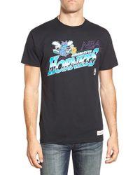 Mitchell & Ness - Black 'charlotte Hornets - Last Second Shot' Graphic T-shirt for Men - Lyst