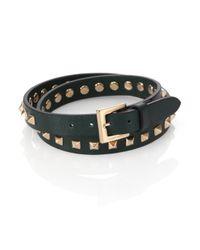 Valentino - Green Studded Wrap Bracelet for Men - Lyst