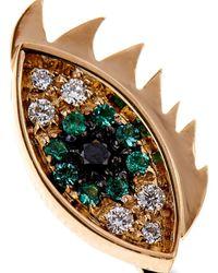 Delfina Delettrez - Green Diamond, Emerald & Gold 2-In-1 Ring - Lyst