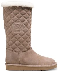 Michael Kors | Natural Michael Sandy Quilted Cold Weather Boots | Lyst